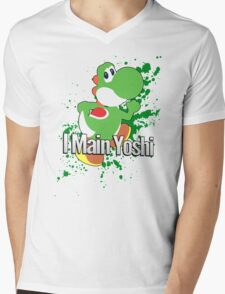 I Main Yoshi - Super Smash Bros. Mens V-Neck T-Shirt