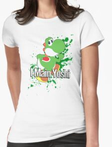 I Main Yoshi - Super Smash Bros. Womens Fitted T-Shirt