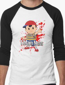 I Main Ness - Super Smash Bros. Men's Baseball ¾ T-Shirt