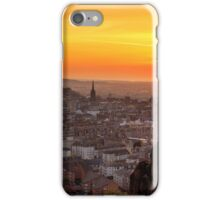Panoramic Sunset from the Crags, Edinburgh iPhone Case/Skin
