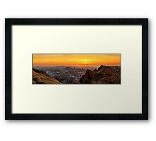Panoramic Sunset from the Crags, Edinburgh Framed Print
