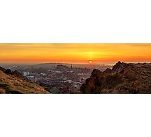 Panoramic Sunset from the Crags, Edinburgh Photographic Print