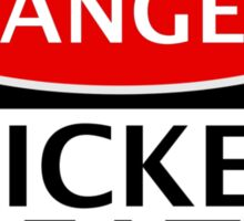 DANGER WICKED BEATS FAKE FUNNY SAFETY SIGN SIGNAGE Sticker
