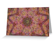 Silk Scarf Kaleidoscope Greeting Card
