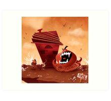 monster chaser Art Print