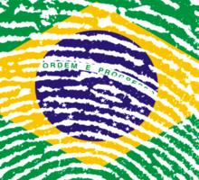 Brazilian flag - fingerprint Sticker