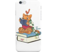 Reading Cat iPhone Case/Skin