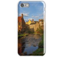 As the sun begins to set over Dean Village, Edinburgh iPhone Case/Skin