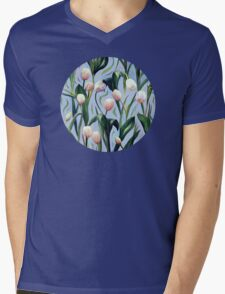 Waiting on the Blooming - a Tulip Pattern Mens V-Neck T-Shirt