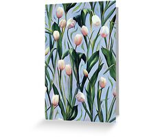 Waiting on the Blooming - a Tulip Pattern Greeting Card