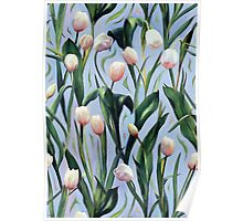 Waiting on the Blooming - a Tulip Pattern Poster