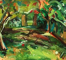 Apple Orchard Oil Painting by Jenny Meehan by jenny meehan