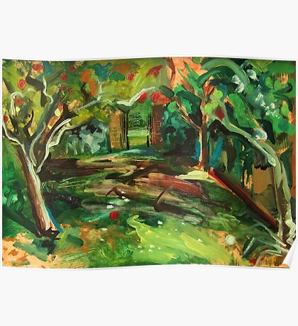 Apple Orchard Oil Painting by Jenny Meehan Poster