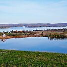 St. Agatha Pond overlooking Long Lake by Brenda Dow
