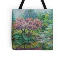 The Lake at Butchart Gardens Tote Bag