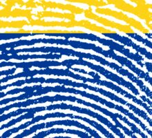 Colombian flag - fingerprint Sticker