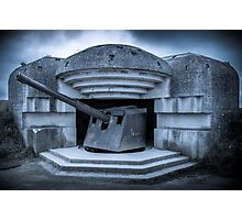 Batterie Longues-sur-Mer Normandy France  Photographic Print