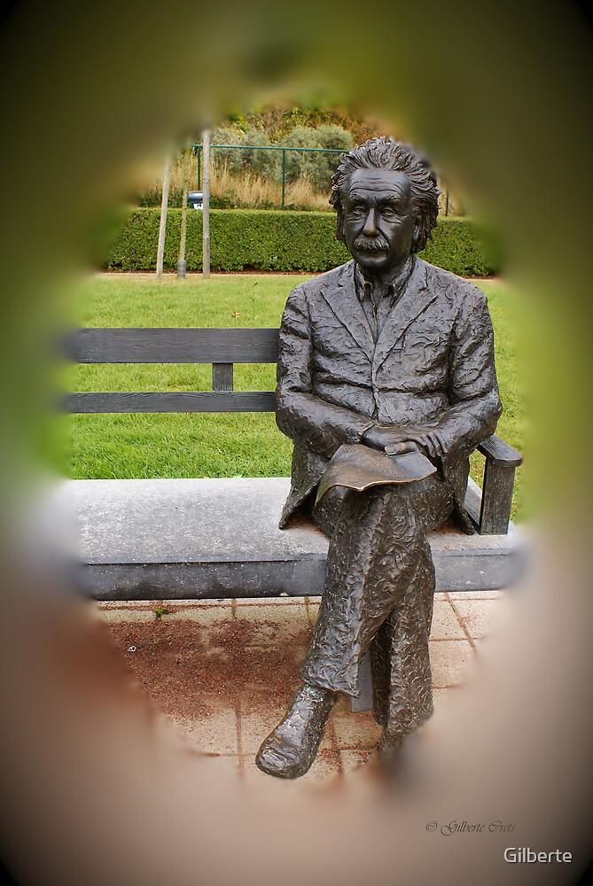 Albert Einstein - De Haan - Belgium by Gilberte