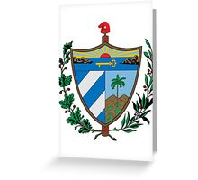 Cuban coat of arms Greeting Card