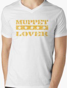 Muppet lover (orange) Mens V-Neck T-Shirt