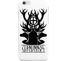 Cernunnos-celtic god of the woods (dark version) iPhone Case/Skin