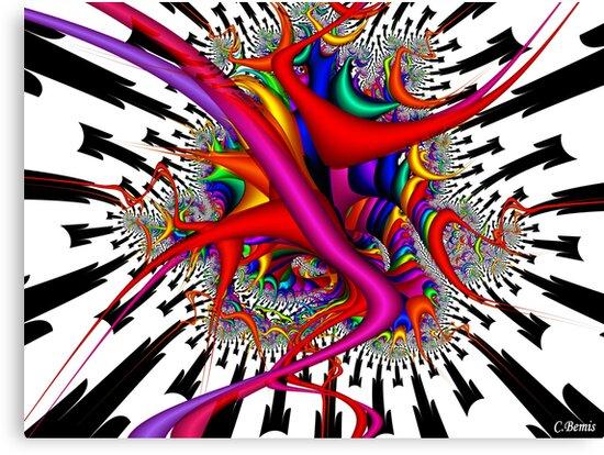 Rainbow Zebra by Chazagirl