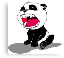 Yawning Panda Cub Canvas Print