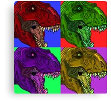 Pop Rex Canvas Print