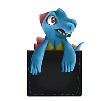 Pocket Totodile Photographic Print