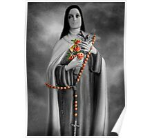 """✿♥‿♥✿ST. THERESE OF LISIEUX-ALSO KNOWN AS """"LITTLE FLOWER"""" VERSION TWO..PILLOW--TOTE BAG..IPAD CASE..PICTURE..CARD..ECT ✿♥‿♥✿ Poster"""