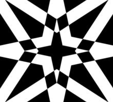 Black and White Wheel of Fortune Sticker