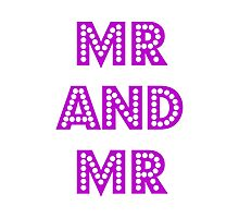 Mr and Mr Photographic Print