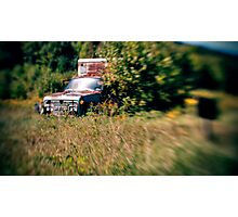 Rusted Teal Truck Photographic Print