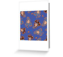 - Paisley pattern (blue) - Greeting Card