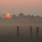 Sunrise on a misty morning by jchanders