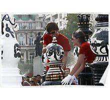 CHESS SET LONDON Poster