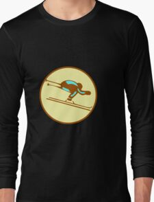 DOWNHILL SKI WINTER Long Sleeve T-Shirt