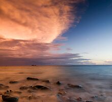 Matamanoa Island, Sunset. by Michael Treloar