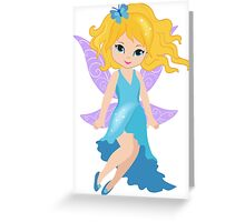 Beautiful Fairy in a blue dress Greeting Card