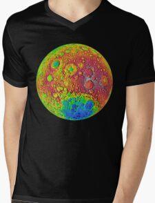 NASA Dark Side of the Moon Mens V-Neck T-Shirt