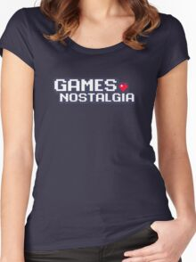 GamesNostalgia Women's Fitted Scoop T-Shirt