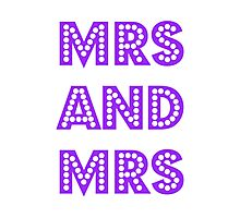 Mrs and Mrs Photographic Print