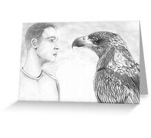 Man and eagle Greeting Card