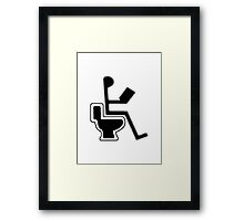 WC TOILET SYMBOL Framed Print