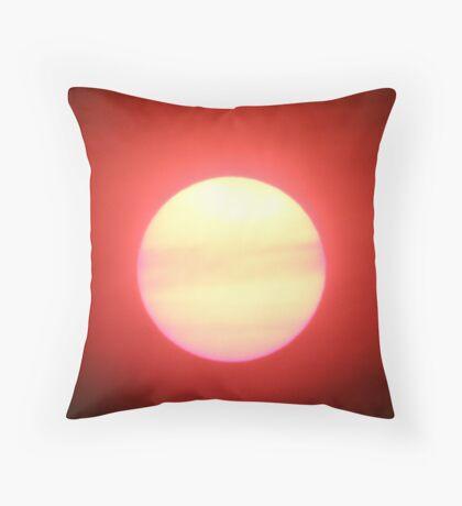 Bushfire sunset Throw Pillow