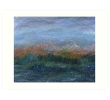 Heather & Cairngorms Art Print