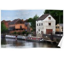 The Avon at Tewkesbury Poster