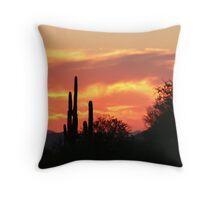 Sunset in the Desert Throw Pillow