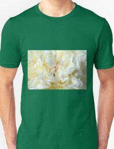 White peony (Paeonia) macro Unisex T-Shirt