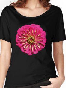 'Hot Pink Zinnea' Women's Relaxed Fit T-Shirt